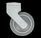 Accessoires: Design Zwenkwiel 75mm RAL7001